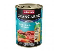 Animonda GranCarno Консерва для взрослых собак c говядиной, лососем и шпинатом 800 гр