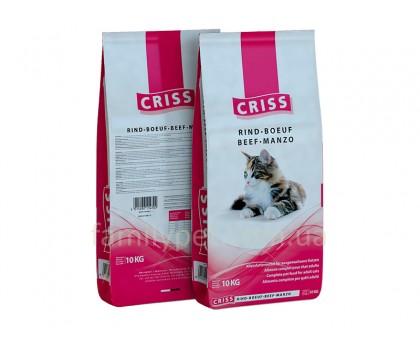 CRISS Корм для кошек Говядина, 10кг