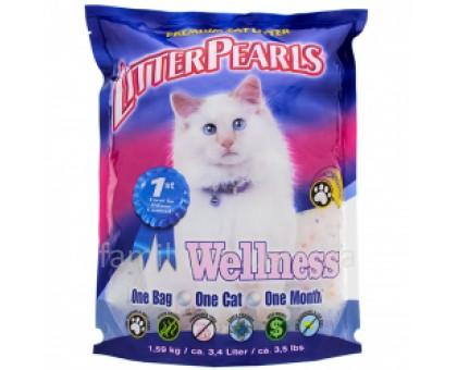 Litter Pearls Wellness Кварцевый наполнитель для кошачьих туалетов
