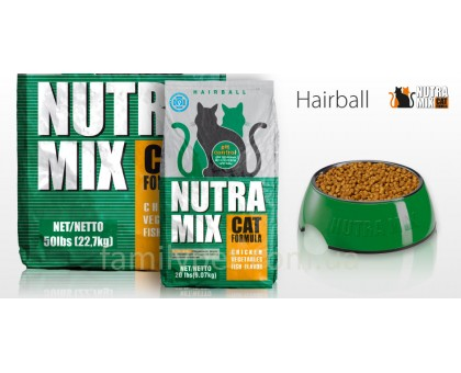 Nutra Mix Hairball  Корм для кошек с выведение шерсти 9,06 кг