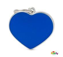 Брелок-адресник Сердце большое голубое эмаль BASIC HANDMADE