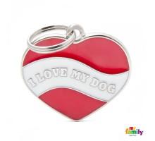 Брелок-адресник Сердце I LOVE MY DOG CHARMS