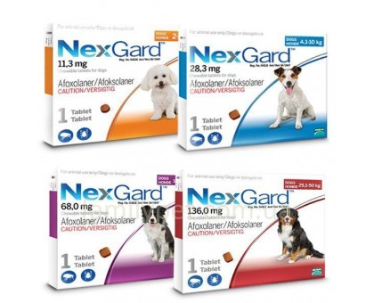 NexGard (Нексгард) Таблетка от блох и клещей для собак