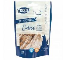 Trixie BE NORDIC  Salmon Cubes Лакомство для кошек кубики с лососем 50 г